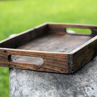 Rustic Farm Serving Tray (Big Version), Ottoman Tray, Wooden Tray, Serving Tray, Coffee Table Tray, Cocktail Tray, Breakfast Tray, Farm Tray