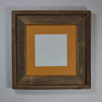 8x8  picture frame with mat great rustic wall decor