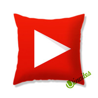 Youtube Logo Square Pillow Cover