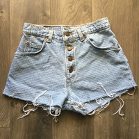 Vintage High Waisted Levi Jean Shorts Size 2/3
