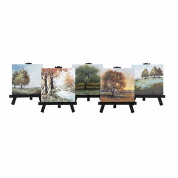 Mini Canvas With Easels, Individually Gift Boxed - Assortment Of 5