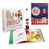 "The Elf on the Shelf: i'm a boy,A Christmas Tradition with Blue Eyed North Pole  with Bonus Official ""An Elf's Story"" Elf on the Shelf Coloring Book"