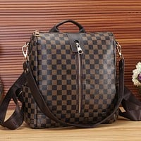 Louis Vuitton Women Fashion Leather Satchel Shoulder Bag Handbag Backpack