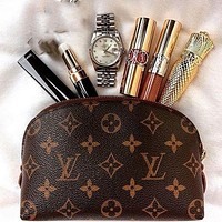 Louis Vuitton Classic Print Fashion Casual Cosmetic Bag Coin Purse Key Case