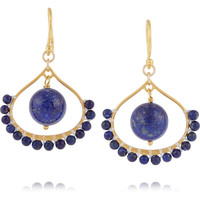 Chan Luu - Gold-plated lapis earrings
