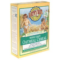 Earth`s Best Organic Whole Grain Oatmeal Cereal, 8-Ounce Boxes (Pack of 12)