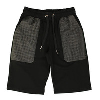 The Ryder Knit Leather Shorts - Black By Hudson NYC New Era Caps, Snapbacks, Bucket Hats, T-Shirts, Streetwear USA Cranium Fitteds
