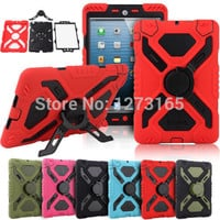 Pepkoo Spider Extreme Military Heavy Duty Waterproof Dust/Shock Proof with stand Hang cover Case For iPad 2 3 4