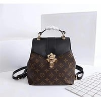 LV Louis Vuitton MONOGRAM CANVAS CLAPTON BACKPACK BAG