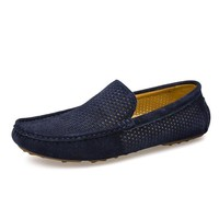 Summer Loafers Men Shoes Casual Genuine Leather Flats Shoes Soft Male Moccasins Breathable Gommino Driving