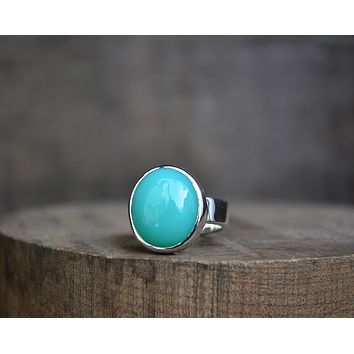 Turquoise Chalcedony Ring