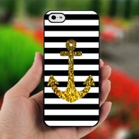 Anchor Gold Bling - Photo on Hard Cover For iPhone 5