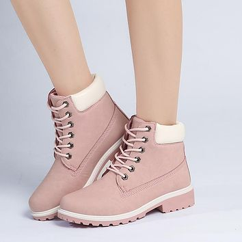Winter Shoes Flat Heel Fashionable Warm Boots for Women