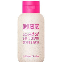 Victoria's Secret PINK Coconut Oil 2-in-1 Creamy Scrub & Wash 8.4 Oz