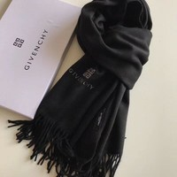 Givenchy Woman Accessories Cashmere Tassel Cape Scarf Scarves1