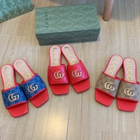 GUCCI New flat slippers with square head