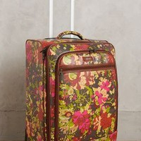 Sakroots Wildflowers Rolling Suitcase in Grey Motif Size: One Size Bags