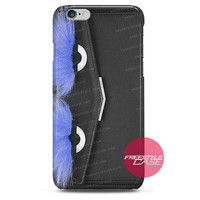 Leather Clutch with Fox Fur Blue Fendi  iPhone Case 3, 4, 5, 6 Cover
