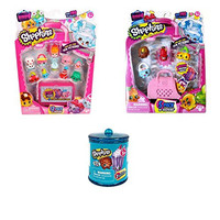 Shopkins Season 4 Bundle Pack: 12 Pack Shopkins, 5 Pack Shopkins, and 2 Pack Food Fair Container