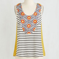 ModCloth Mid-length Sleeveless Down to Eclectic Avenue Top
