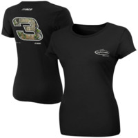 Chase Authentics Dale Earnhardt Ladies Team Realtree Racing T-Shirt - Black