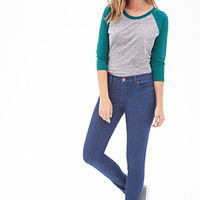 FOREVER 21 PLUS Skinny Ankle Jeans Denim