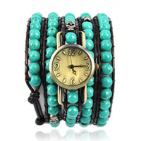 Turquoise Beads Wrap Watch