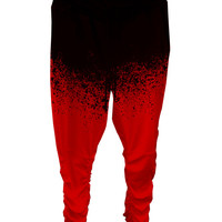Dab Joggers - Black & Red