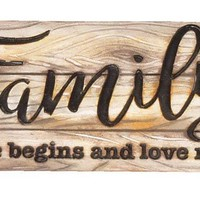 Home Decor-Family Life Love Table Decor Sign