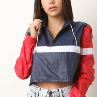 Colorblock Track Cropped Jacket