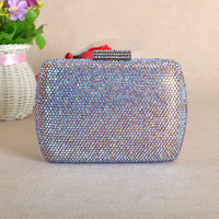 New Stunning Wedding Crystal Box Evening Clutch