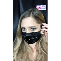 Spandex Sparkle Face Mask