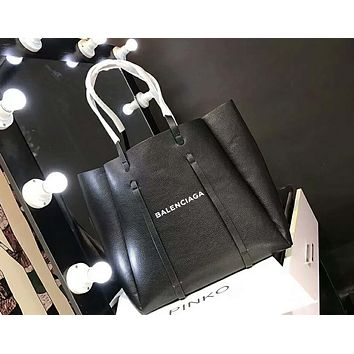 Balenciaga Popular Women Leather Handbag Tote Satchel Shoulder Bag Black I-AGG-CZDL