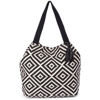 Sole Society Kat Oversize Canvas Tote With Tassel