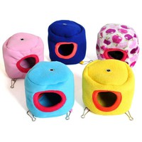 Hammock for Ferret Rabbit Rat Hamster Parrot Squirrel Hanging Bed Toy House Free Shipping 10cm X 10cm