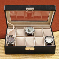 Personalized Men's Leather Watch Case - Groomsmen Gift - Best Man Gift - Fathers Day Gift
