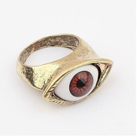 Fashion punk style retro rings lifelike eyes R203 _X