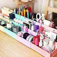 DIY Paper Board Storage Box Desk Decor Stationery Makeup Cosmetic Organi...