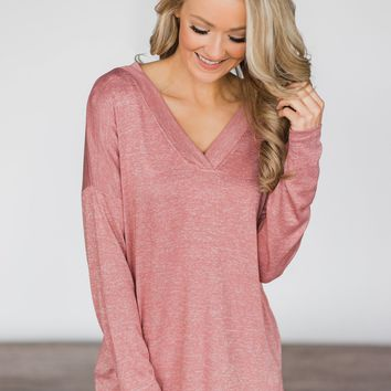 Simply Soft High Low Top ~ Salmon