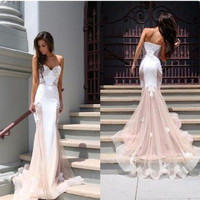 Robe Soiree longue dresses 2017 Grace Karin long formal dress Spaghetti Strap Pink party speicial occasion dress 00171