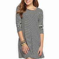 Fire Rib Knit Swing Dress - Belk.com