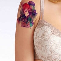 Mermaid Face temporary tattoo, Fashion Tattoo,Fake Tattoo,Tattoo Design
