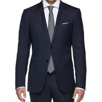 Suit Cool wool Button, zip 2 buttons High re Blue 86% Wool, 14% Silk (49136513EN) | Ermenegildo Zegna