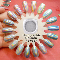 1g/box Holographic Powder Unicorn Powder Hologram Mica Powder Rainbow Pigment Rainbow Holographic Pigment Duochrome powder