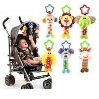 Cute Baby Toys Soft Musical Newborn Kids Toys Animal Baby Mobile Stroller Toys Plush Playing Doll