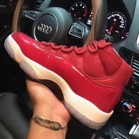 Air Jordan 11 Retro Gym Red Chicago 378037-623 XI White Red Men's Height Increasing Shoes Fashion Shoes Top Quality With Original Box