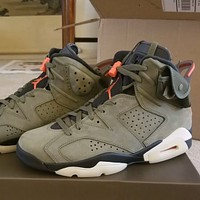Travis Scott x Air Jordan 6 high-top sneakers basketball shoes