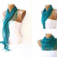 woman fashion lace scarves, fringe handmade scarf, women accessories // headband // bandana // headwrap