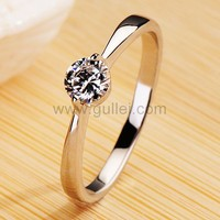 0.28 Carat Elegant Women's Diamond Wedding Ring with Engraving