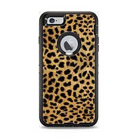The Orange Cheetah Fur Pattern Apple iPhone 6 Plus Otterbox Defender Case Skin Set